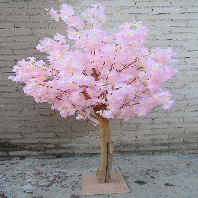 Новые искусственные вишневые цветы дерево имитация поддельные персик желаний деревья для домашнего декора и свадебные украшения - 6