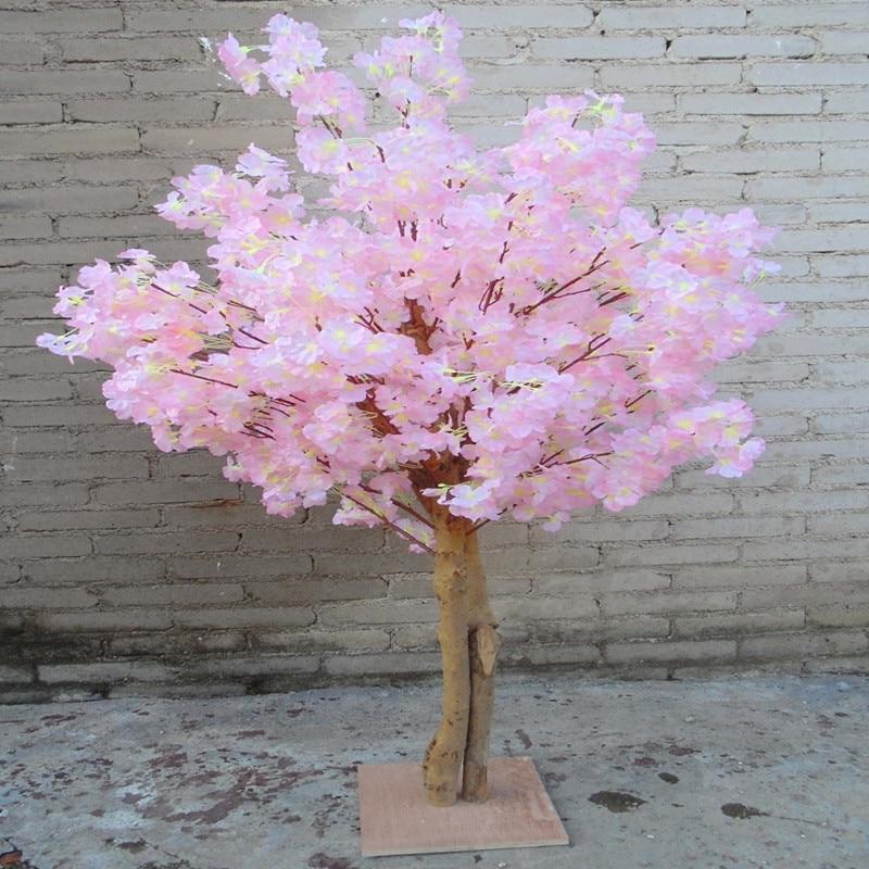 Nuevas flores de cerezo artificiales simulación de árbol melocotón falso que desea árboles para la decoración del hogar y decoraciones de centros de mesa de boda - 6
