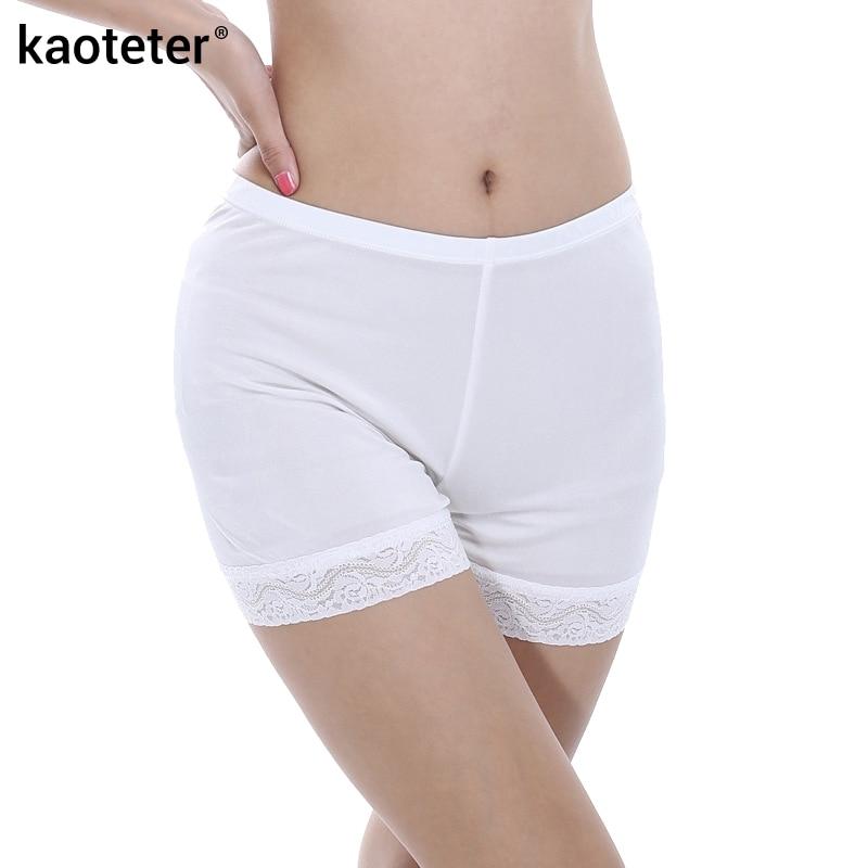 f1a475e3a8d5 ⃝100% de seda de la seguridad de las mujeres pantalones cortos ...