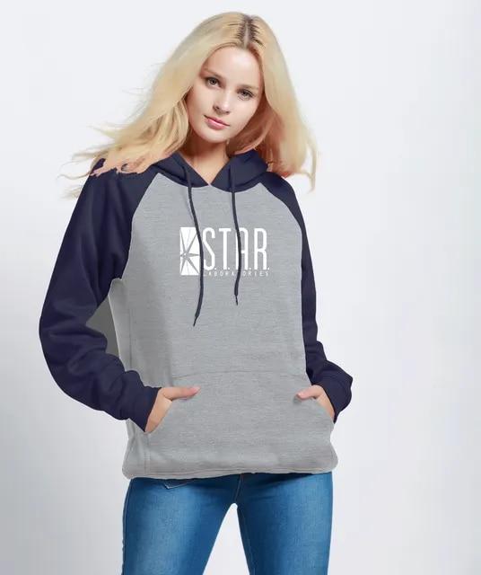 Female Sweatshirts 2019 New Arrival Autumn Winter Fleece Hoodies Women Raglan Pullover Print STAR S.T.A.R.Labs Women's Tracksuit