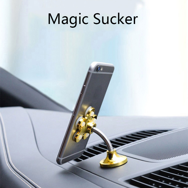 Universal Phone Holder Magic Sucker Car Phone Holder Stand For iPhone 7 8 X for Huawei Samsung Xiaomi 360 Degree Rotatable Brack in Phone Holders Stands from Cellphones Telecommunications