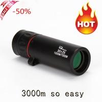 Hot Selling HD 30x25 Monocular Telescope Binoculars Zooming Focus Green Film Binoculo Optical Hunting High Quality