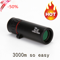 Hot Selling HD 30x25 Monocular Telescope Binoculars Zooming Focus Green Film Binoculo Optical Hunting High Quality