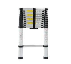 2 m escada retrátil dobrável de alumínio na posição vertical, multi-propósito casa/library/engenharia escada