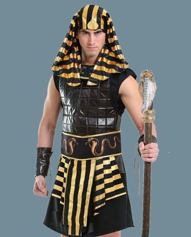 IREK hot Halloween Costume party cosplay costume top quality Adult luxury Egyptian pharaoh suite Tutankhamu performance