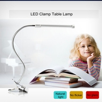 LED Table Lamp USB Clip Office Flexible Adjustable Desk Lamp Eye Protected Long Life Book Lamp