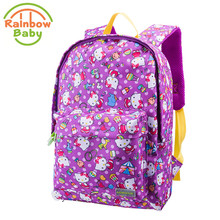 Rainbow Baby HelloKitty School Bags Anti Lost Boys and Girls Bagpack Breathble Kids & Babys Bags Dirt-proof Backpack