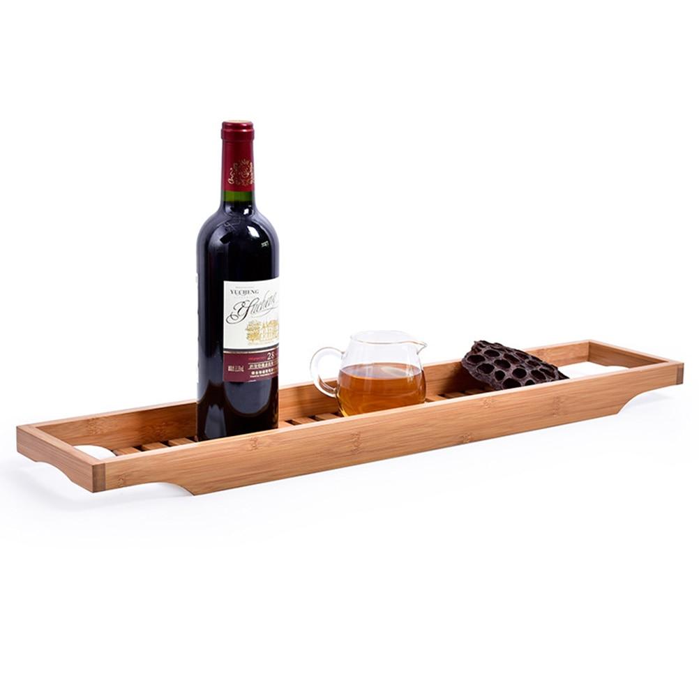 storage rack for bathtub rack caddy bathtub tray wood Natural Bamboo ...