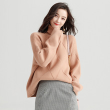 Sweater coat female long pullover women autumn and winter loose sweater thick y8039