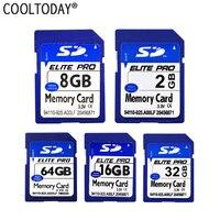 Cooltoday SD карты 128 ГБ 64 ГБ 32 ГБ 16 ГБ 8 ГБ 4 ГБ 2 ГБ Class 10 памяти карт SD реальная Ёмкость для Камера Бесплатная доставка