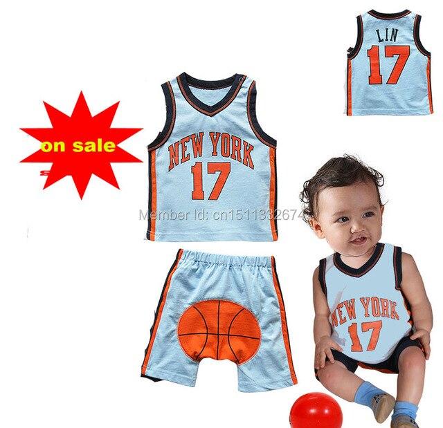 ef736519151 15 new summer baby Boy sport N B A clothing set children kids clothes sets  baby Basketball clothes children Basketball clothes