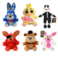 2016 Five Nights at Freddy 25cm Size Bear & Fox & Duck & Rabbit & Clown Kids juguetes Plush Toys cute toys girl toys