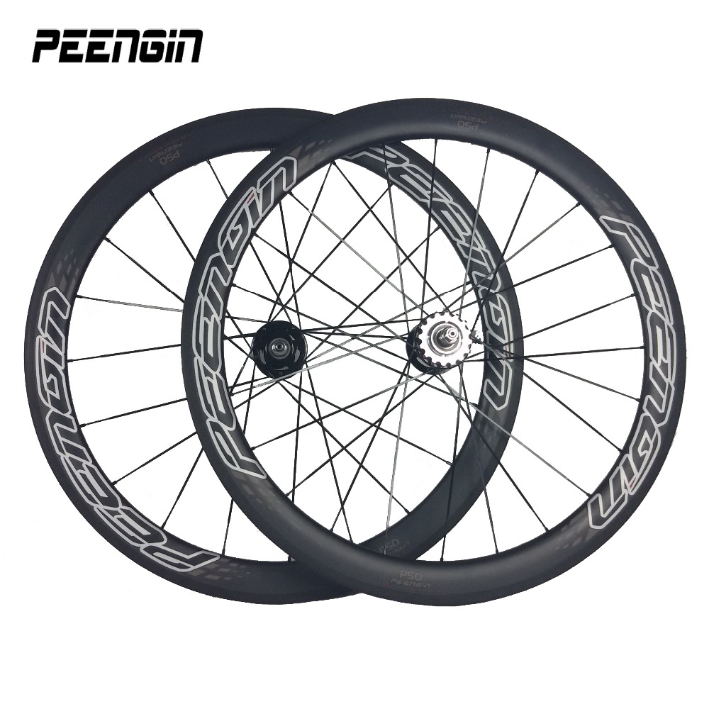 Huge discounts!Carbon bicycle wheelset 700C 25X50mm clincher track wheel single speed rim online roue fixie parts flip-flop hub(China)