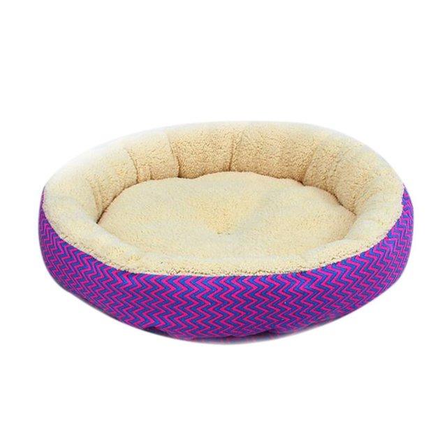Pluche Comfort Donut hondenbed kleur Paars 7