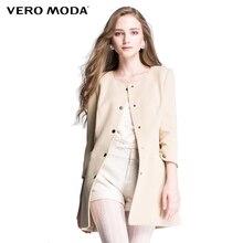 Vero Moda Brand Hot Women high quality solid slim casual windbreaker women trench coat ladies overcoat tops 314321026