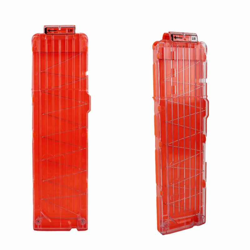 15 Reload Clip Tijdschriften Ronde Darts Vervanging Plastic Tijdschriften Speelgoed Pistool Zachte Kogel Clip Voor Nerf N-Strike Elite