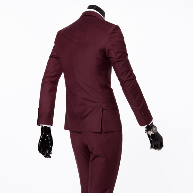 (jackets+vest+pants) 2018 fashion male quality slim high-grade cotton business BLAZER/Men groom dress suit three-piece/jackets 3