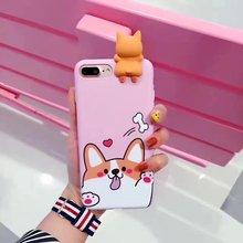iPhone 6 6S 7 8 Plus Cartoon Corgi Dog Silicon Case