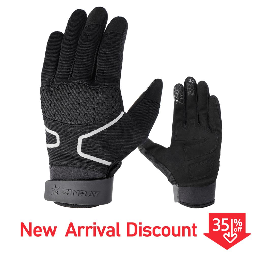 ZINRAY Full Finger Cycling Gloves Gel MTB Bike Bicycle Men Touch Screen Motocross Glove Breathable Motorcycle Winter Windproof
