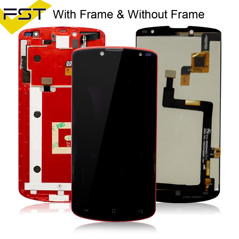 5 For Prestigio MultiPhone PAP 7500 PAP7500 LCD Screen Display with Touch screen Digitizer Assembly With Frame Spare Parts