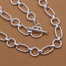 hot deal buy 925 sterling silver jewelry fine fashion grand circle links chains necklace for  men's women wedding wholesale jewerly