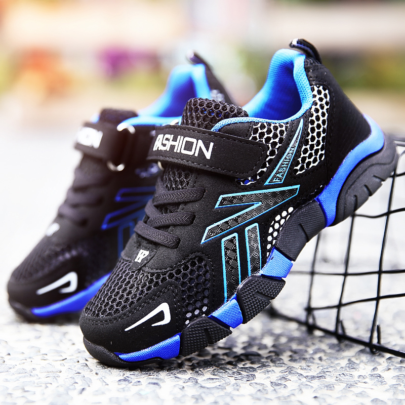Boys Shoes 2019 New Summer Children's Mesh Sports Shoes Pupils Hollowed Out Big Children Net Single Breathable