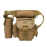 Outdoor Cycling Multifunctional Military Shoulder Bags Army Leg Waist Bags Electrical Tool Thigh Bags+Kettle Bag