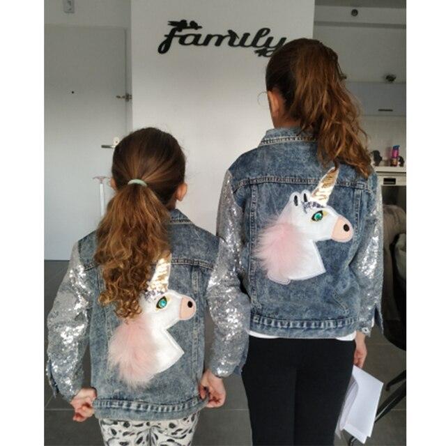 Unicorn Denim Jacket for Girls