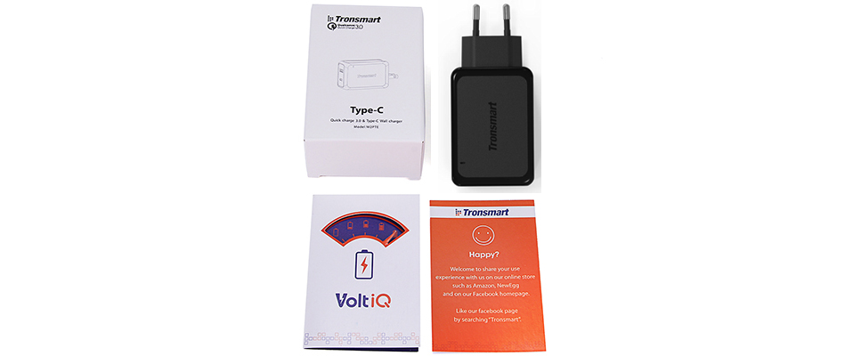 Tronsmart W2PTE USB Type C Quick Charge 3.0 USB Charger with USB VoltiQ for Xiaomi for LG G5 Fast Phone Charger Adapter EU Plug 7