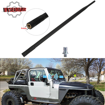 WISENGEAR 13 Car Aerial Antenna Mast For Jeep Wrangler TJ 1997-2006 Black AM FM Radio Signal Reception CEK147 image