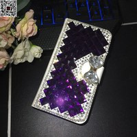 Xiaomi Redmi Note 4 Case Cover Rhinestone Flip Leather Phone Bag Cover Jewelled Wallet Coque Case