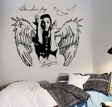 Principe della decalcomania quando Doves Cry cele urban pop cantante Autoadesivo Della Parete di Arte poster camera da letto a casa di arte di disegno della decorazione 2YY41