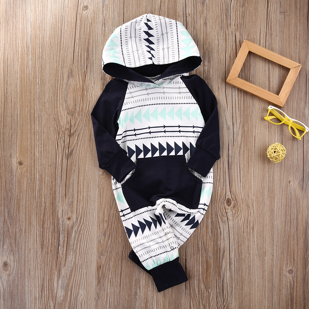 Baby Boys Girls Infant Hooded Xmas Gift Jumpsuit Bodysuit Clothes Outfits