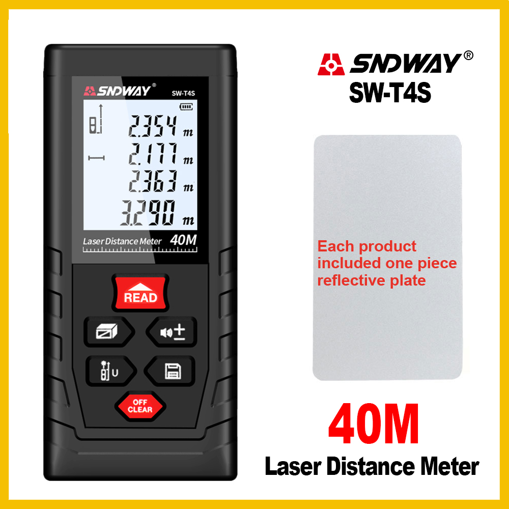 SNDWAY Rangefinder Laser Distance Meter Range Hand Tool Device Finder Electronic SW-T4S/T40/T60/T80/T100 t40 t60 6 jtc 5356