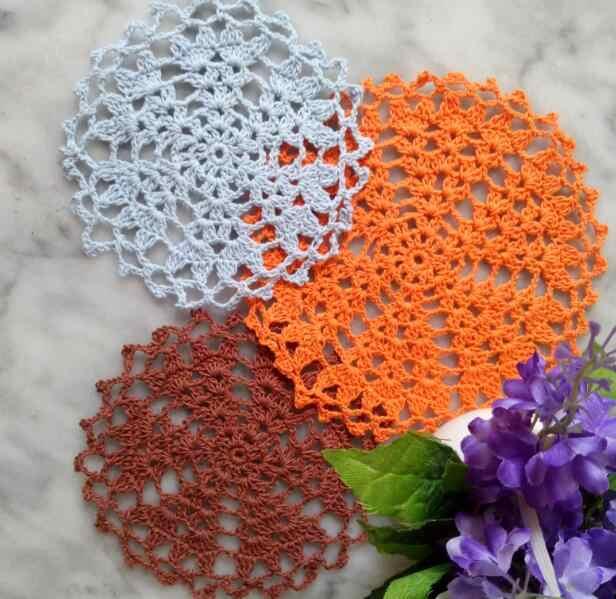 NOVO lugar da tabela mat pad prato Pano de Rendas de algodão Rodada crochet doily placemat copo caneca coaster panela toalha de chá artesanal cozinha
