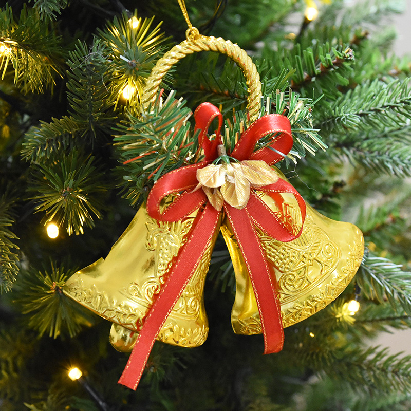 6pcs Christmas Elk Tree Bell Decoration Hanging Ornaments