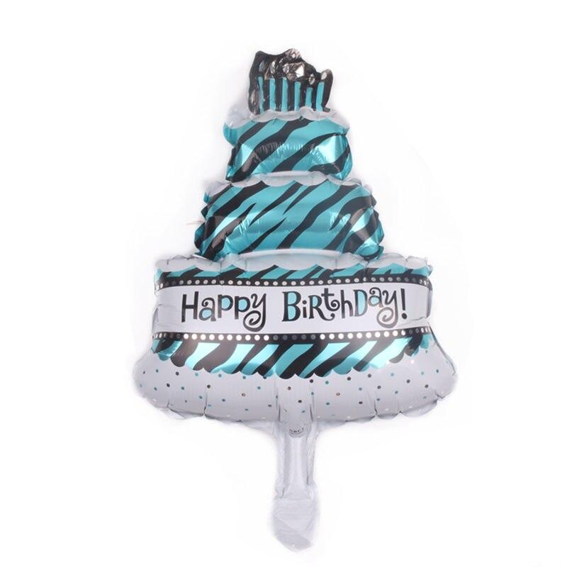 Ballons & Accessories Event & Party Generous Xxpwj New Mini Birthday Cake Aluminum Balloons Birthday Party Decoration Toys B-169