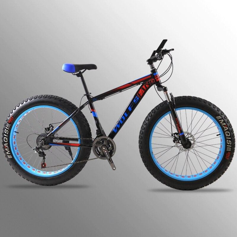 Велосипедный фэтбайк горный велосипед шоссейный велосипед Алюминиевый сплав рама 26x4,0 24 скорости Пружинная Вилка передний и задний механи...