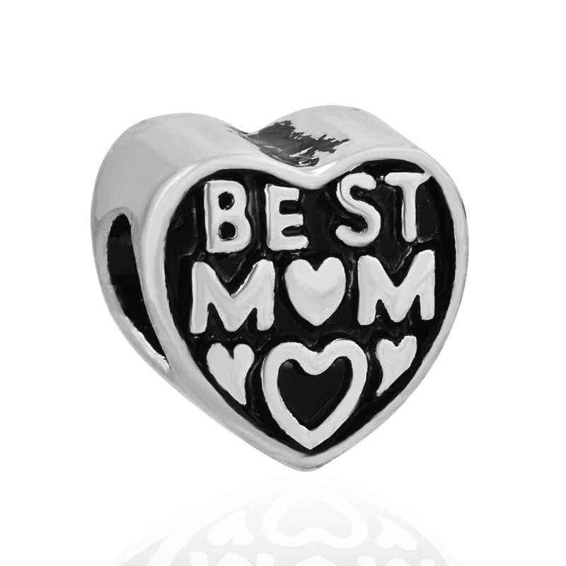 0f979a5a5 Detail Feedback Questions about free shipping christmas gift 1pc best mom  charm bead Fits European Pandora Charm Bracelets A208 on Aliexpress.com    alibaba ...
