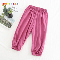 WOTTAGGA 2019 Thin Anti Mosquito Pants Casual Baby Pajama Pants 2019 New Infant Boys Girls Soft Cotton Bloom Pants Clothes Trou