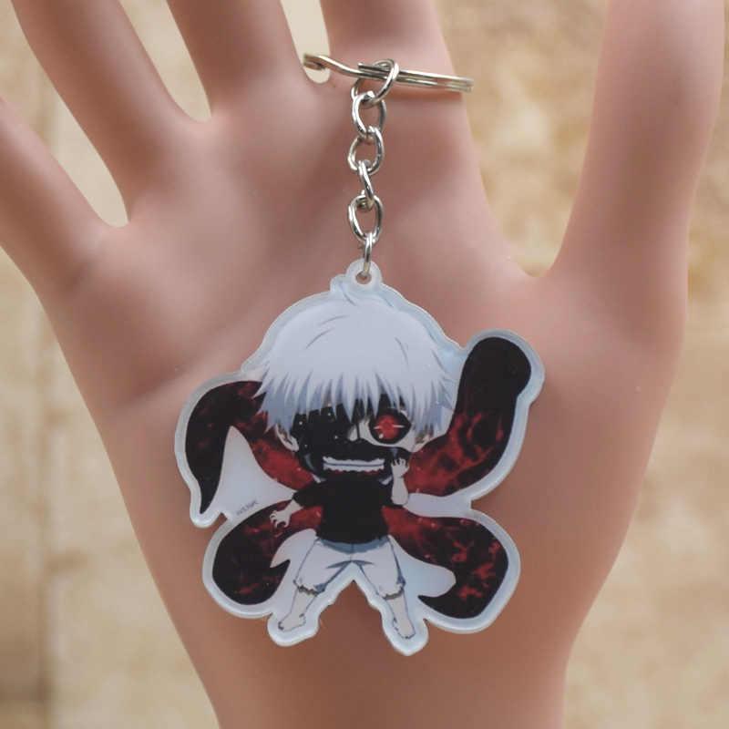 Bonito Tokyo ghouls Kaneki Acrílico Anime Chaveiro Pingente de Acessórios de Cadeia Chave Do Carro Japonês Dos Desenhos Animados Melhor Presente
