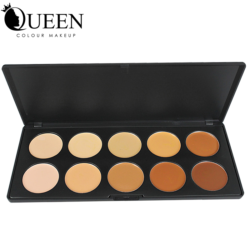 QUEEN 10 Colors Professional Make up Concealer Palette Contouring Face Powder for Makeup AC10