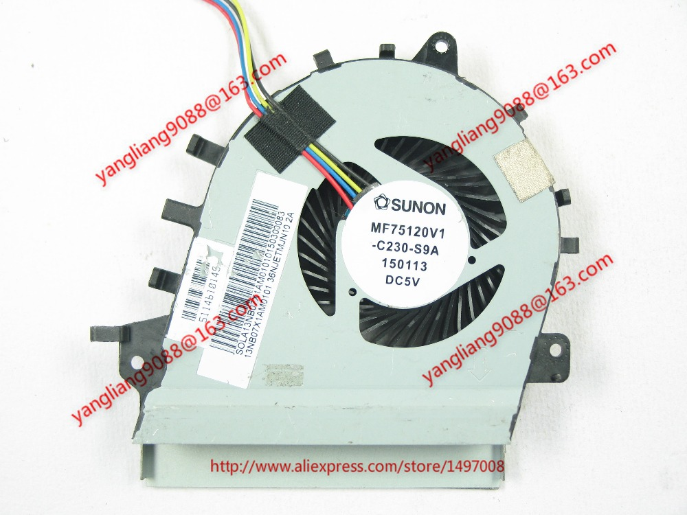 Free Shipping For SUNON MF75120V1-C230-S9A DC 5V 4-wire 4-pin connector 50mm Server Laptop Cooling fan free shipping for sunon eg50040v1 c06c s9a dc 5v 2 00w 8 wire 8 pin server laptop fan