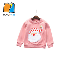 YKYY YAKUYIYI 2016 Brand New Autumn Winter Girls Sweatshirt Sweet Santa Claus Girl Pullover Tops Soft O-neck Children Sweatshirt