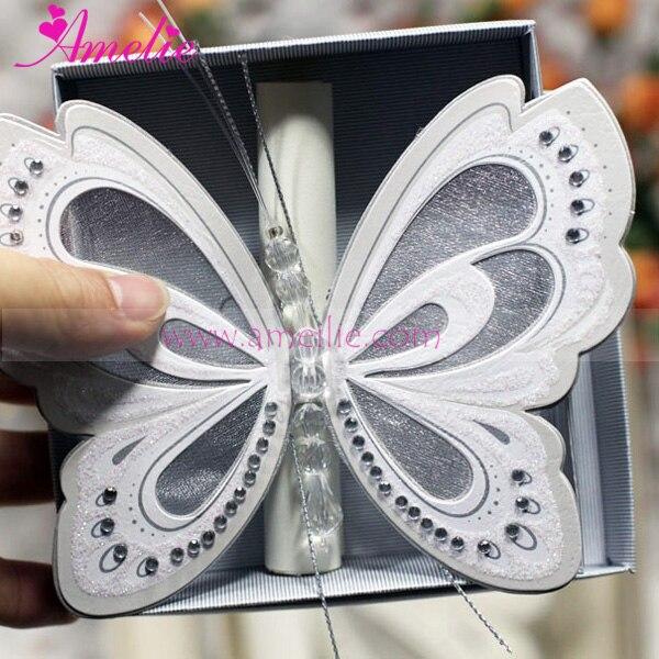 50 Invitaciones De Boda De Mariposa Brillo /& Diamante *** 14 Colores ***