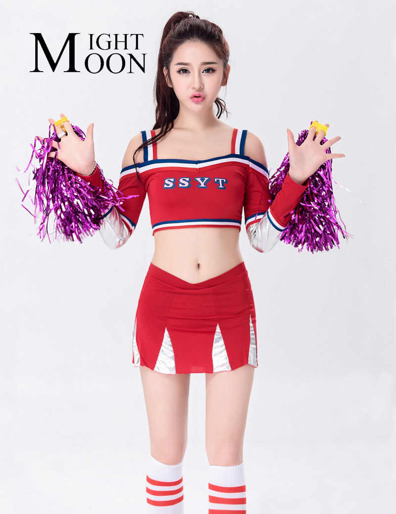 79c8d1d73c MOONIGHT New Baby Uniform Clothing And Suit Cheerleader Costume Top+Skirt  Blue And Red Style