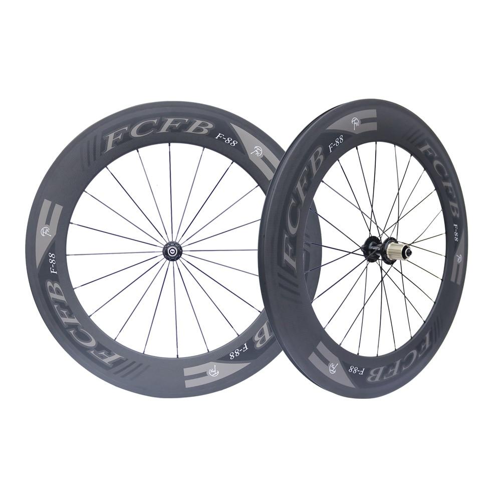 2017 FCFB F88*23мм Fastace RA209 поверхности углерода дорога трубчатые колеса 88,88 мм 700с троеборье из углеродного волокна колеса 3 к матовый