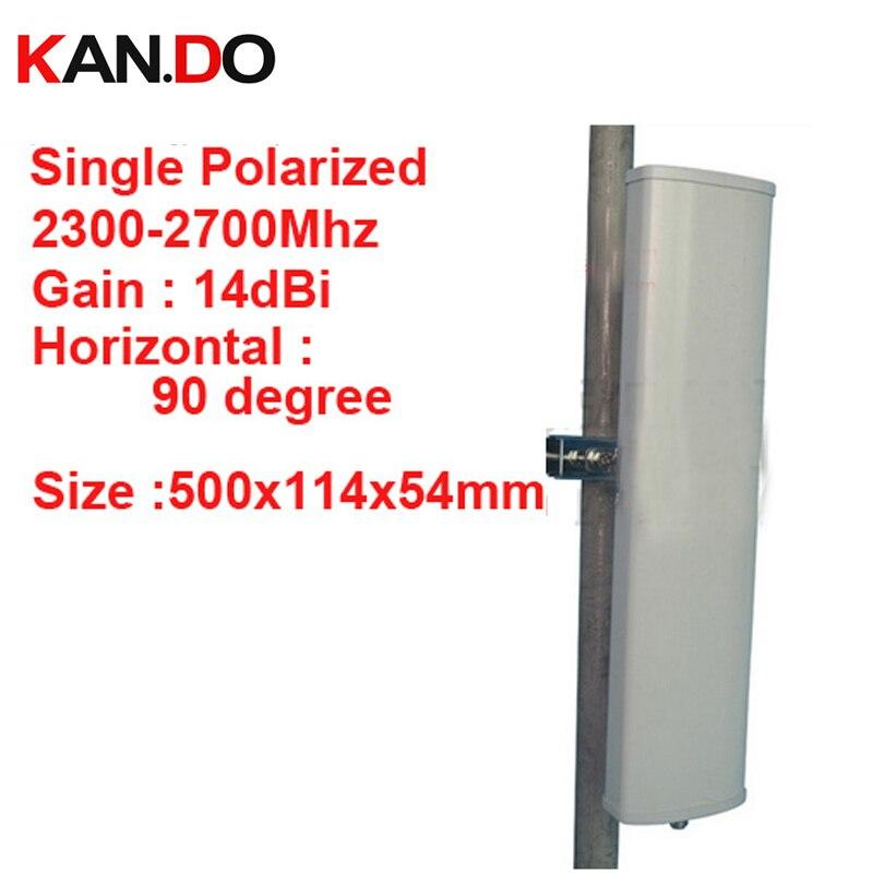 14dbi gain polarisation verticale 90 deg 2300-2700 Mhz panneau antenne FDD 4G antenne, antenne TDD 2.4G wifi Base station utilisation