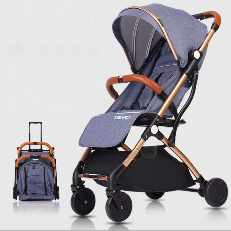 2018 latest trolley-type lightweight folding stroller can sit and lay for 0-3 years old baby can get on the plane rain cover цена