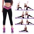 2017 Algodão Sexy V Cintura das Mulheres Super Elastic Leggings Treino Magro Calças de Fitness Desgaste Venda Quente